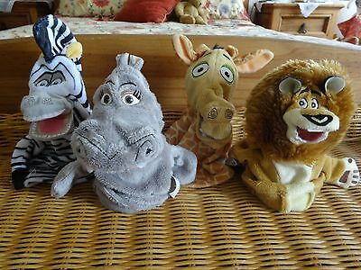 Madagascar 4 Hand Puppets LIMITED EDITION Gloria Alex Julien Marty Persil
