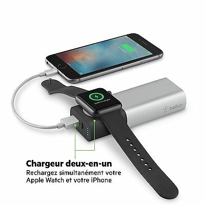 Belkin Valet Charger™ Power Pack 6700mAh for Apple Watch + iPhone F8J201btSLV