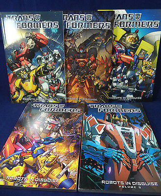 TRANSFORMERS ROBOTS IN DISGUISE Volumes 1 2 3 4 5 TPB Bundle Comic Paperback IDW