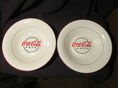"Gibson Coca Cola Bowls , set of Two 8 3/4"" Bowls"