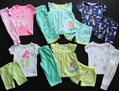 Baby Girl 12 Months Carter's Spring Summer Pajama Sets Clothes Lot Free Ship