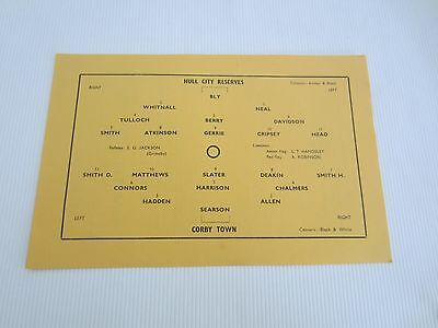 1954-55 MIDLAND LEAGUE  RESERVES HULL CITY v CORBY TOWN