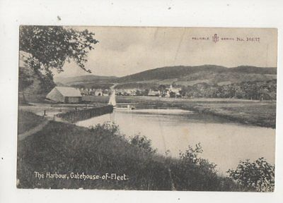 The Harbour Gatehouse Of Fleet 1908 Postcard Gatehouse Postmark 469b