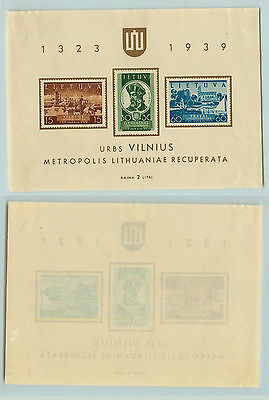 Lithuania, 1940, SC 316a, mint, Souvenir Sheet. rta2691
