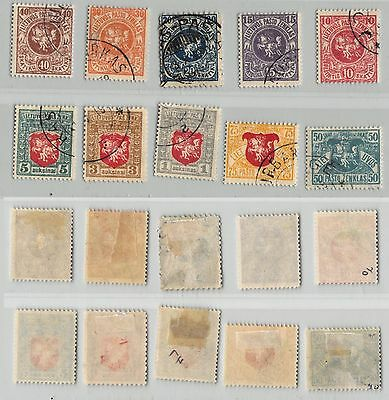 Lithuania, 1919, SC 40-49, used, wmk 145. c8958