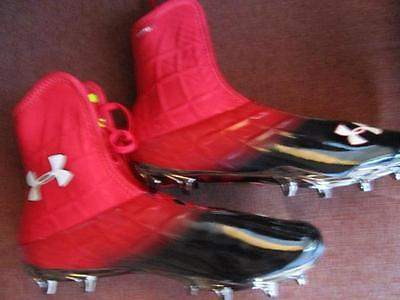 Under Armour UA Team Highlight MC Special Edition Football Cleats 12.5 Black Red
