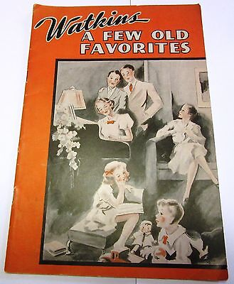 """Vintage 1930's Watkins Liniment Song Book """"A Few Old Favorites"""", Advertising"""
