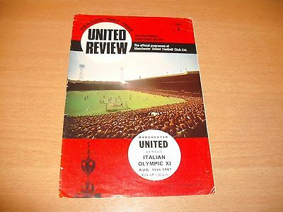 1967 FRIENDLY MANCHESTER UNITED v ITALIAN OLYMPIC