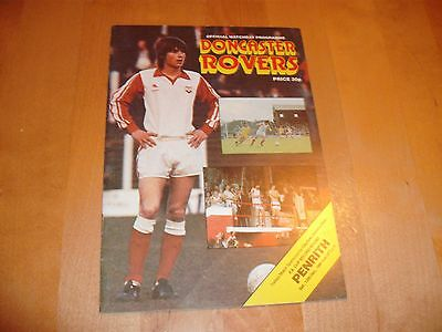 1981 - 1982 FA CUP 2ND RD DONCASTER v PENRITH