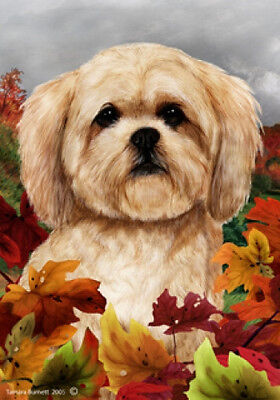Large Indoor/Outdoor Fall Flag - Lhasa Apso 13040
