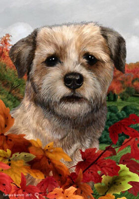 Large Indoor/Outdoor Fall Flag - Border Terrier 13122