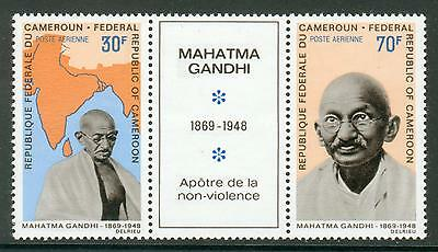 Cameroon se-tenant stamps with coupon **MNH Gandhi hk30
