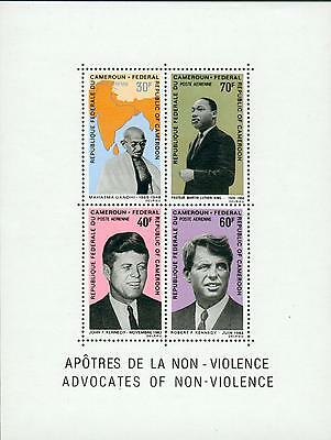 Cameroon s´sheet ** Gandhi / Luther King / Kennedy gw52