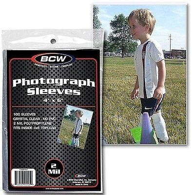 300 New 4X6 Sleeves  Photo 2 mil 4  X 6 Protective Soft Sleeves Accessories
