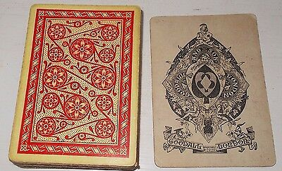 ANTIQUE PLAYING CARDS - GOODALL & SON    c. 1870s  -  BEZIQUE  DECK  32/32