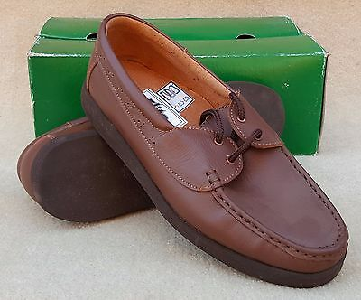 ELITE Ladies Perth Brown Moccasin Lace Up Bowls Shoes UK 6 Ex Display (63)