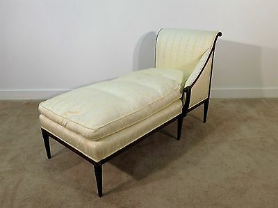 ANTIQUE French Louis XVI Mahogany or Walnut Chaise Recamier Lounge Daybed