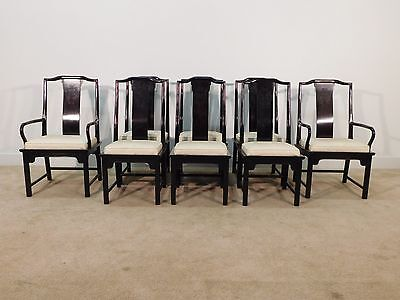 Set of 8 Century Chin Hua Chinese Chippendale Mahogany Dining Chairs
