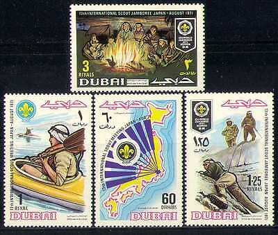 Dubai 1971 Scouts/Jamboree/Camp Fire/Canoeing 4v n27991