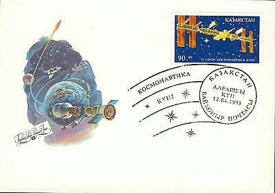 Kazakhstan Michel Nr. 27 on FDC Space station All gs59