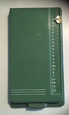 Vintage Bates Secretary Model G List Finder Pop Up Phone Directory Green