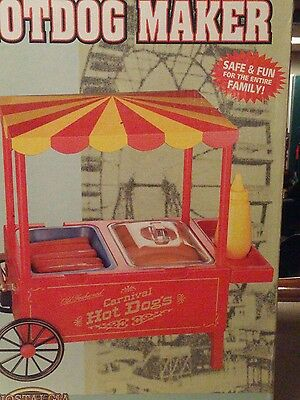 Nostalgia Old Fashioned Carnival Style Hotdog Maker~ Great for Birthday Parties!