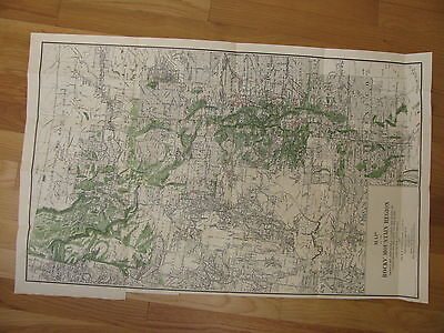 1885 Rocky Mountain Region Map  Forest, irrigation,  forts reservations