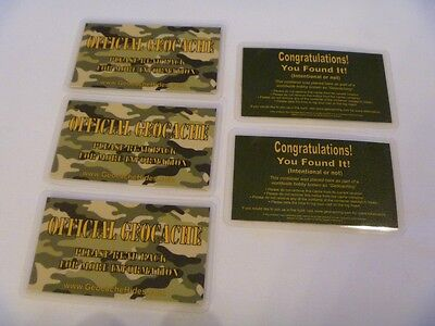 Geocache Stash Cards 5-Pack, Tell 'Em What Caching's About!  Geocaching