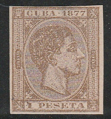 1877 Caribbean Stamps Sc 75  King Alfonso Spain Imperf   NEW