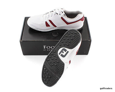 Footjoy Greenjoys Men's Spikeless Golf Shoes Size 10W Us White/red New #d5632