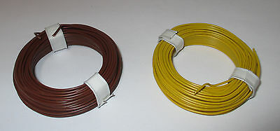 (1m = ) Copper Wire - HOOK-UP WIRE 0,5MM 2 Rings A 10 Meter NEW