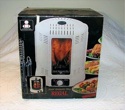 New Electric Regal Royal Rotisserie Plus K7820 Chicken Kabob Meat Rack Basket !!