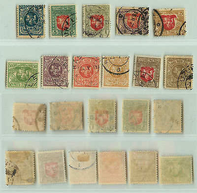Lithuania, 1919, SC 50-60, used. rta3381