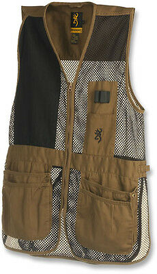 Browning Trapper Creek Mesh Shooting Vests, Clay/Black, L, Right Hand 3050266803