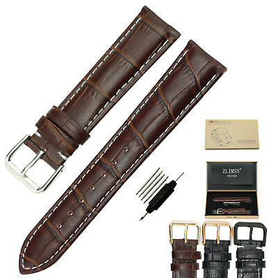 Replacement Watch Band Strap Genuine Leather Wirstband 18 19 20 21 22 23 24 26mm