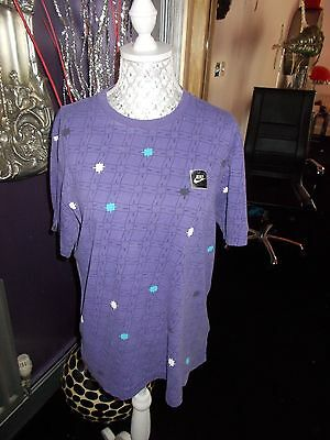 Youth  90S Vintage Nike  T Shirt Rave Size Xl Festival Purple  Streetwear