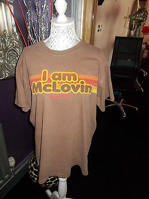 Mens Vintage Mclovin T Shirt Rave Size M  Streetwear G Con Film Faded