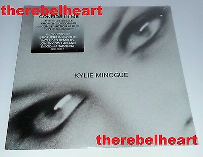 """KYLIE MINOGUE Confide In Me 1994 US 12"""" DECONSTRUCTION Sealed HYPE PROMO STICKER"""