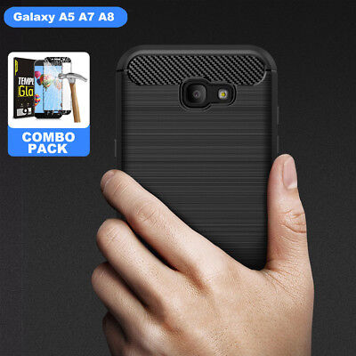 Samsung Galaxy A5 A7 2017 Case Cover, Shockproof Soft Silicon Case