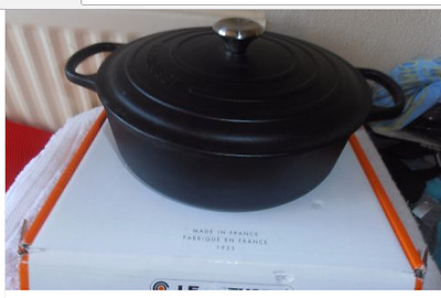 Brand New & Boxed Le Creuset 30cm 6.2 L Casserole/Risotto Matt Black Cast Iron