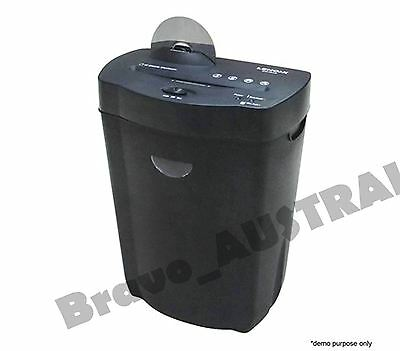 22L Cross Cut Shredder 10 Page A4 Paper Sheet Credit Card & CD Disc Home Office