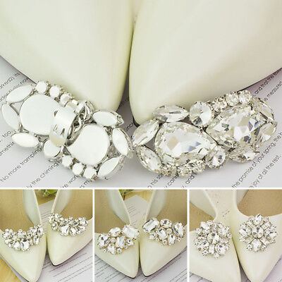 New Women Shoe Charms Rhinestone Bridal Shoes Clips Wedding Accessories 1 Pair