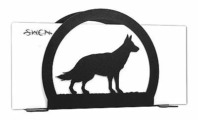 German Shepherd Dog Black Metal Napkin or Letter Holder *NEW*