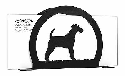 Irish Terrier Dog Black Metal Napkin or Letter Holder *NEW*