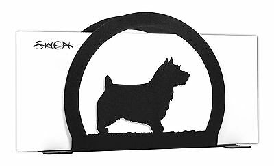 Norwich Terrier Dog Black Metal Napkin or Letter Holder *NEW*