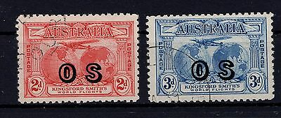 P24849/ Australie Australia / Official – Scott # O1 / O2 Obl / Used 120 €