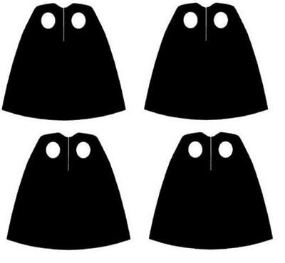 4 x (Pack of 4) Black Capes  for Star Wars Harry Potter  Lego Minifigs NEW