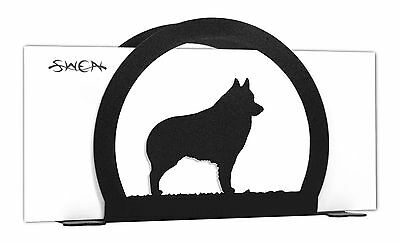 Schipperke Dog Black Metal Napkin or Letter Holder *NEW*