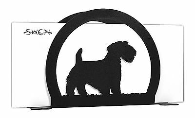 Sealyham Terrier Dog Black Metal Napkin or Letter Holder *NEW*
