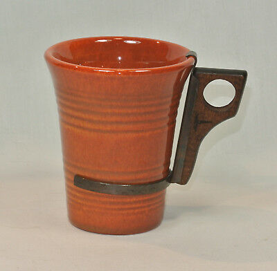 Vintage BAUER Pottery MONTEREY Rust Red-Brown TUMBLER with Handle Ringware